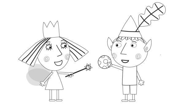 Ausmalbilder Ben & Hollys kleines Königreich | Rechte: KiKA/ © ABD Ltd / Ent. One UK Ltd 2008