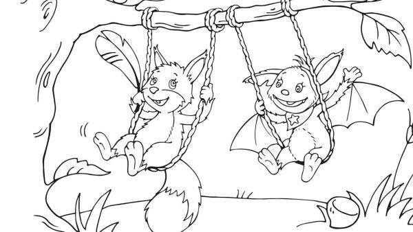 Fidi und ihre Nussfreundin - ein kleines Eichhörnchenmädchen  | Rechte: KiKA