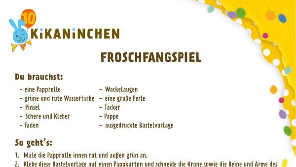 Druckvorlage für das Froschfangspiel | Rechte: KiKA