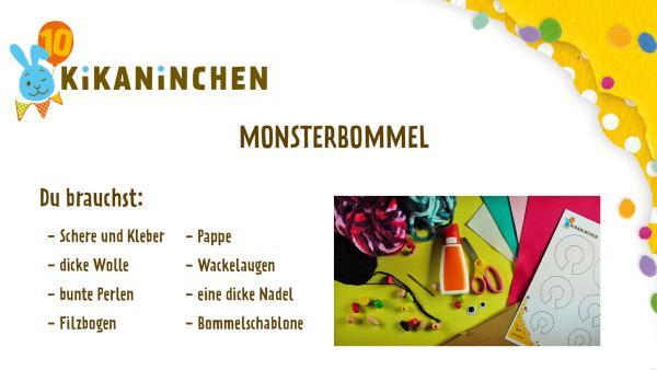 Bastelanleitung Monsterbommel | Rechte: KiKA