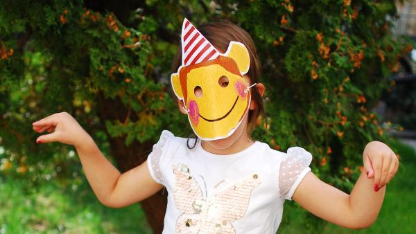 Masken für eine Dschungelparty, Märchenparty oder Monsterparty | Rechte: KiKA