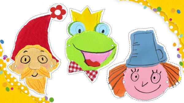 Märchenmasken ausdrucken und gestalten | Rechte: KiKA