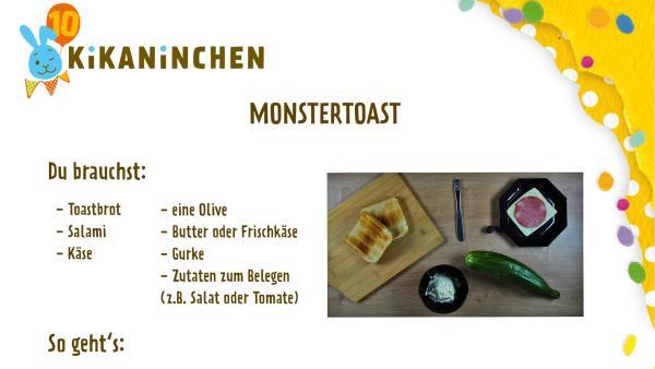 Anleitung für ein Monstertoast | Rechte: KiKA