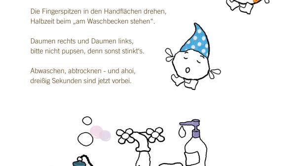"""Der Liedtext zum """"Händewaschlied"""" zum ausdrucken und mitsingen.   Rechte: KiKA"""