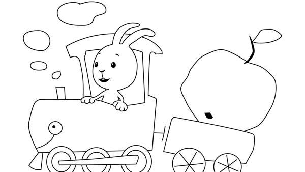 Kikaninchen fährt Lokomotive  | Rechte: KiKA
