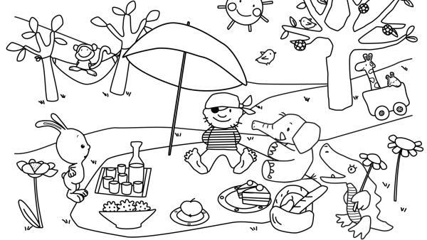 Picknick mit Kikaninchen und seinen Schnipselfreunden | Rechte: KiKA