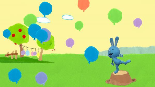 Lass die Luftballons zerplatzen! | Rechte: KiKA/Katrin Lahr